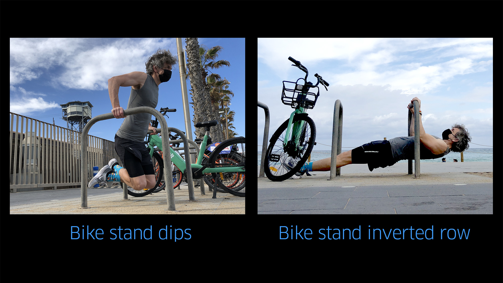 How to use a bike stand for dips and inverted rows
